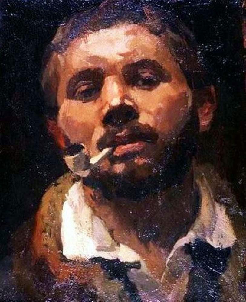 René Beeh, Self Portrait, Portraits of Painters, Fine arts, Painter René Beeh