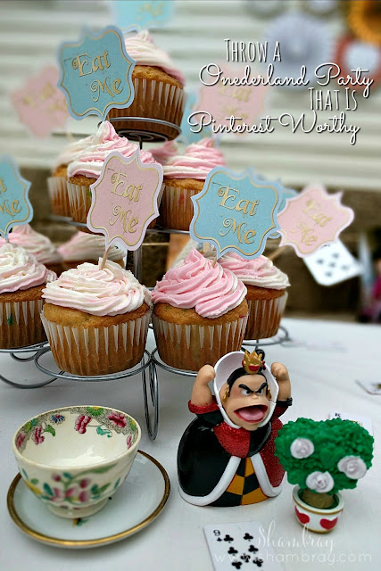 1st birthday party, Alice in Wonderland, simple, easy