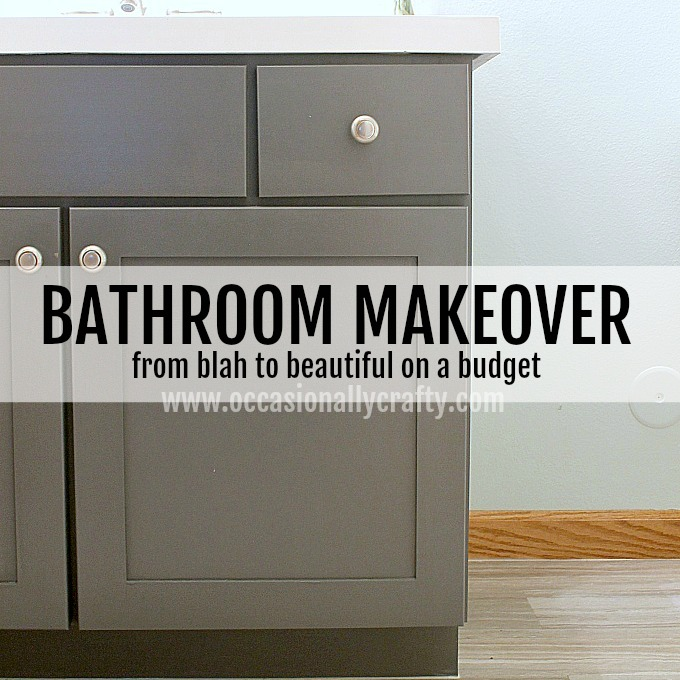 Take a bathroom from blah to beautiful on a budget!