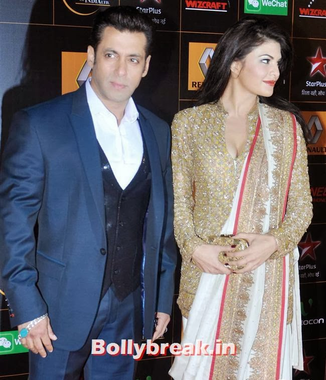 Salman Khan and Jacqueline Fernandez, Star Guild Awards 2014 Pics