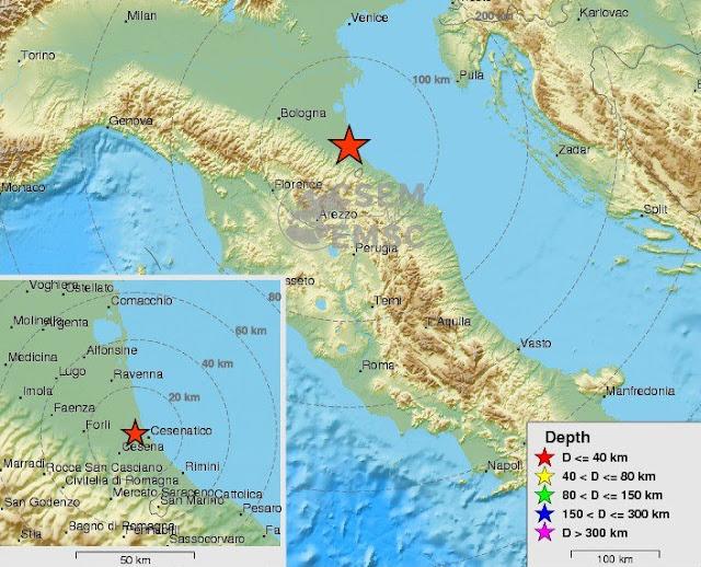 Itália foi atingida por um terremoto de 6,6 de magnitude na sequência dos acontecimentos ao longo dos últimos sete dias