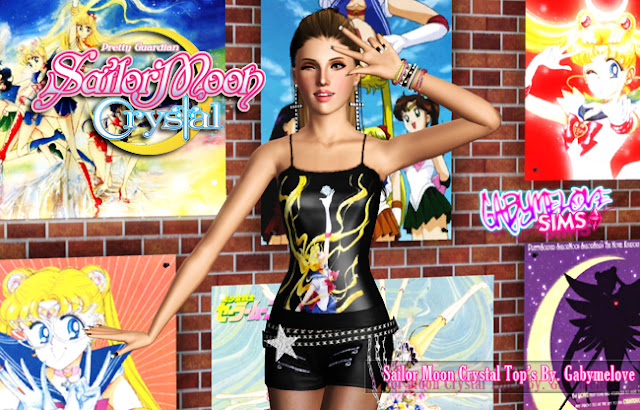 Sailor Moon Crystal Tops, Sims 3. Gabymelove Sims.