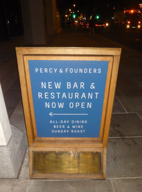 Percy & Founders Restaurant Sign
