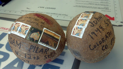 how to mail coconuts, in the mail, stamps, mythbusters,