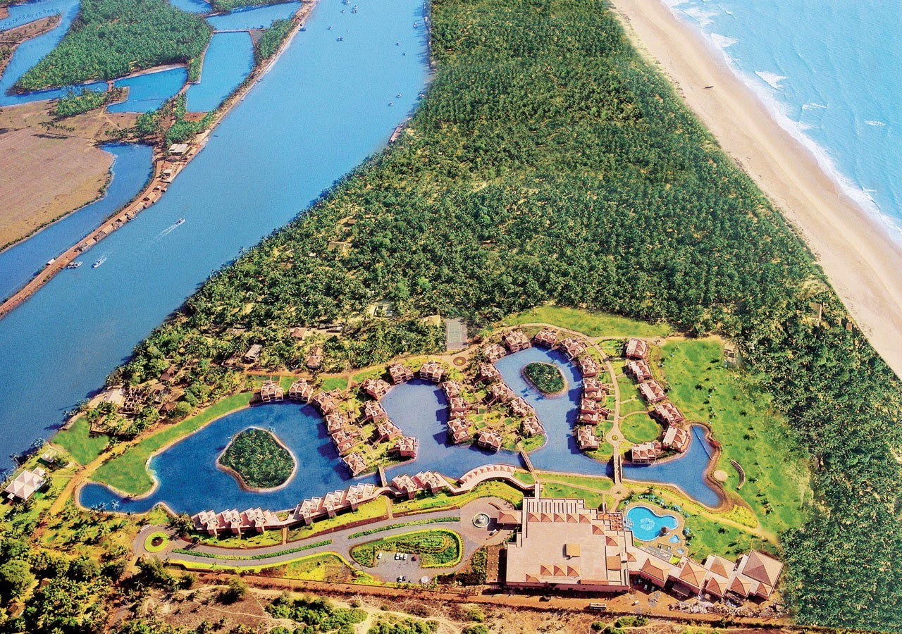Aerial View of the Sprawling Leela Goa