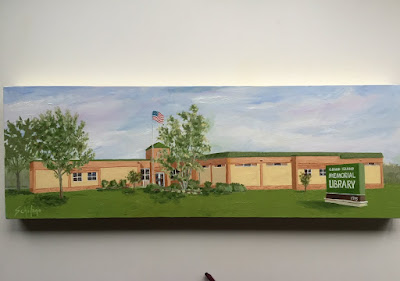 painted building, Kathy Schifano, commission painting, Grand Island artist