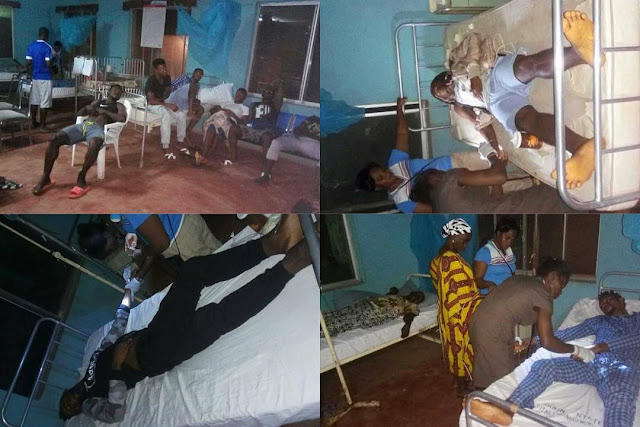 Food Poisoning: 13 Nigerian footballers battling for survival after a meal of semo and egusi