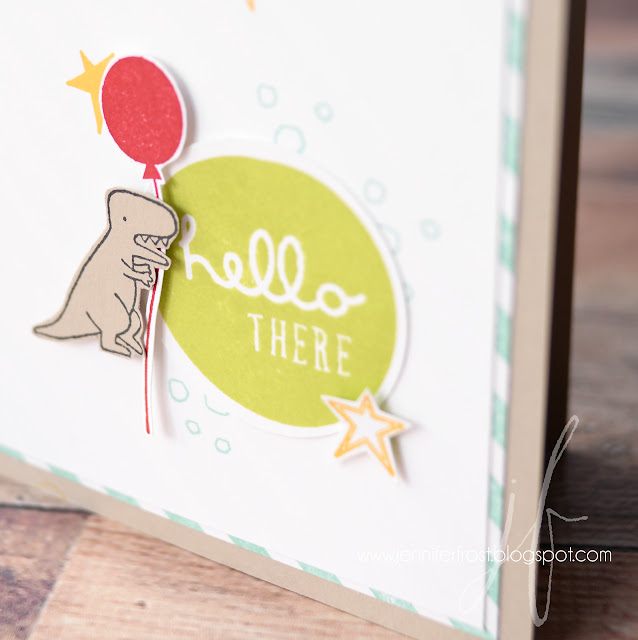Pieces & Patterns, Diagonal Stripe, Dinosaur, Stampin' Up!, Papercraft by Jennifer Frost, Customer rewards program, The Crafty Carrot Collective, Global Design Project, TGIF Challenge