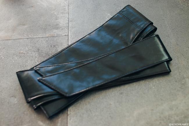 日本人ファッションブロガー、MizuhoK,Newin-一月に買ったもの,Mercari:ブラックフェイクレザーサッシュベルト