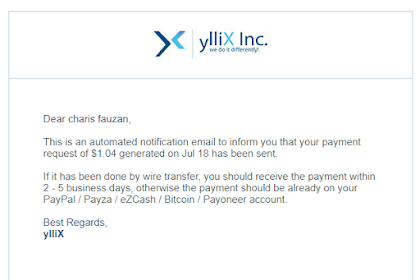 Yllix, Alternatif Adsense Favorit, Minimum Payout Hanya 1$