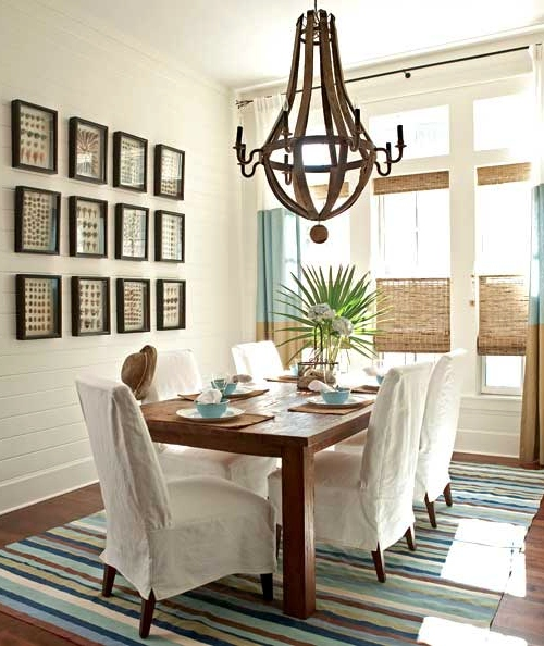 Traditional Coastal Designer Dining Room Idea
