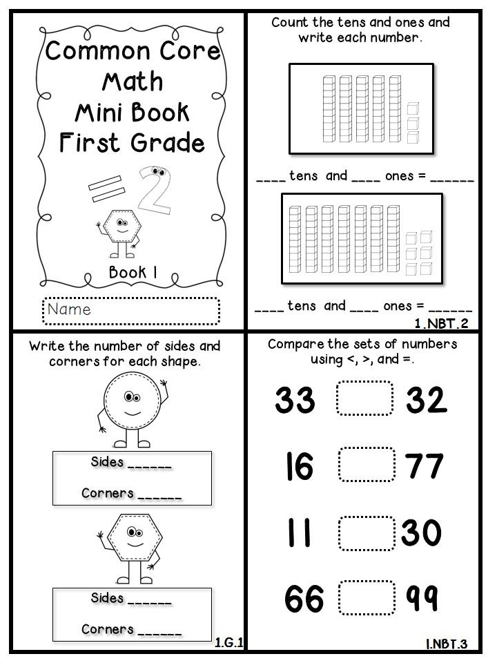 common core math mini books freebie flying into first grade. Black Bedroom Furniture Sets. Home Design Ideas
