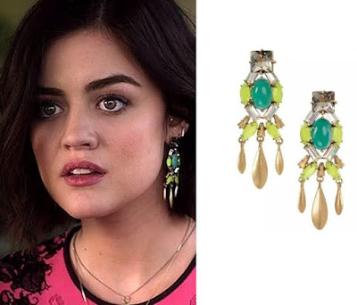 PLL Lucy Hale in Stella & Dot Jardin Earrings
