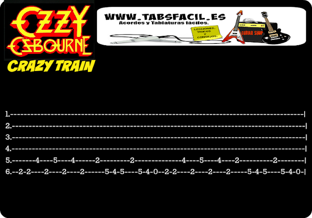crazy train tabs