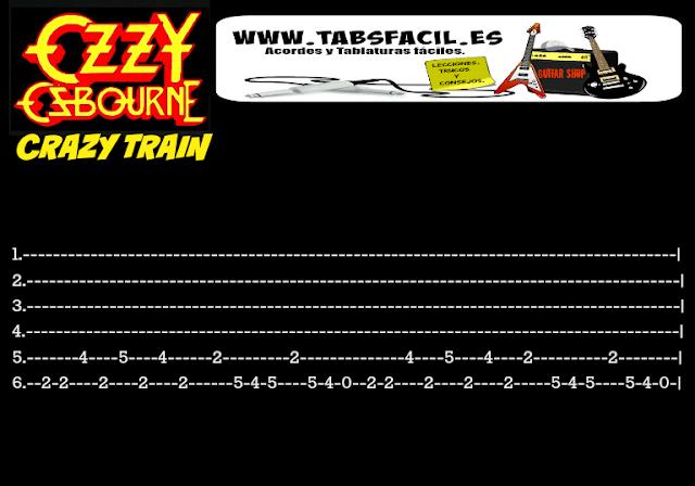 crazy train tabs