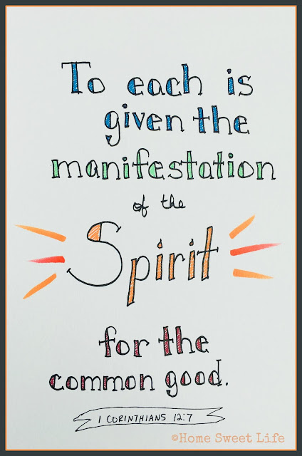 Scripture Writing, hand lettering, Bible verses, Holy Spirit