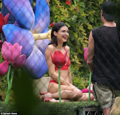 Kendall Jenner wears red lace lingerie for new photo shoot