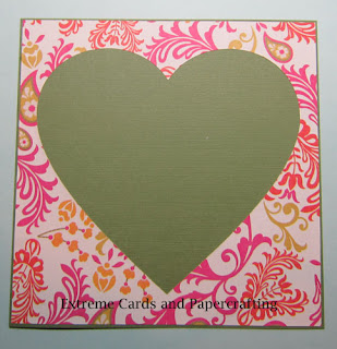 adhere decorative frame to valentine