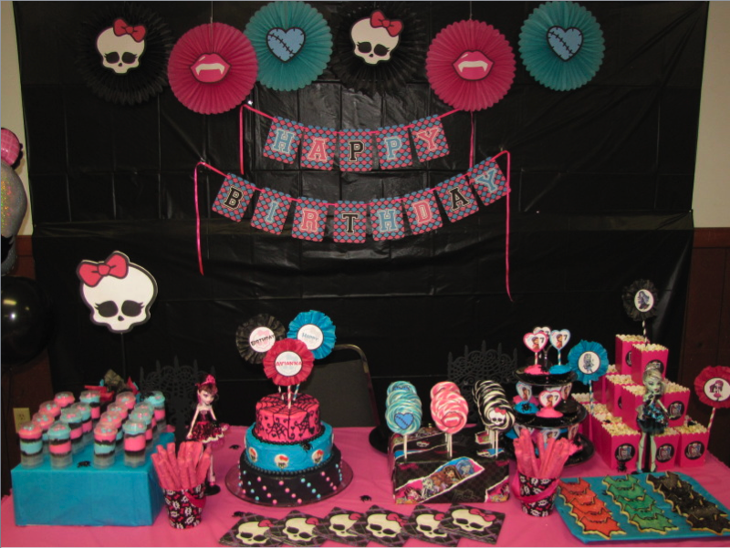 Diy Monster High Party Decorations