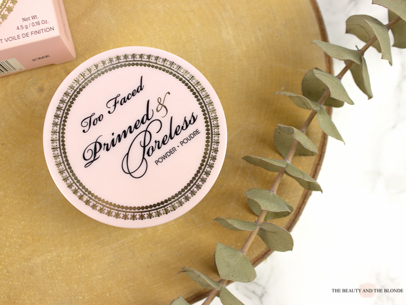 Too Faced Primed And Poreless Loose Powder Review Jar Packaging