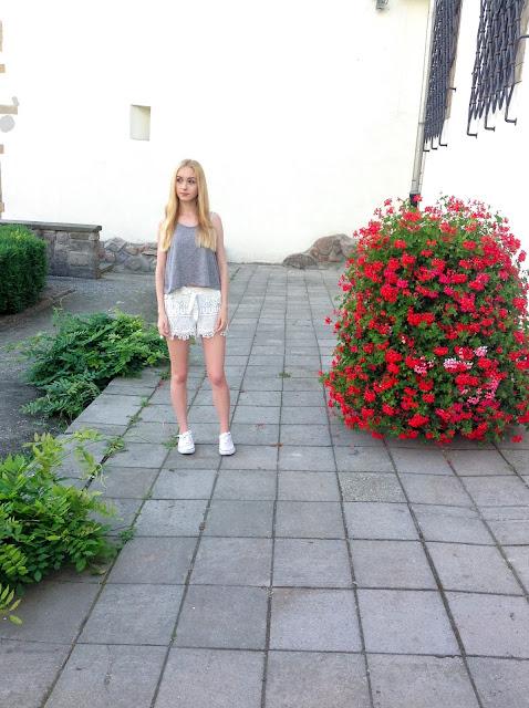 Koronkowe spodenki | Lace shorts OOTD  ♡