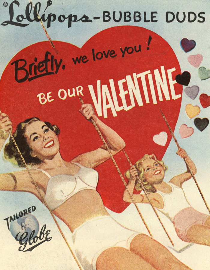 Lollipops, Valentine's Day, Vintage Ads