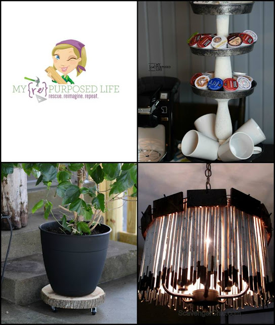 Coffee station stand, plant stand, book page chandelier