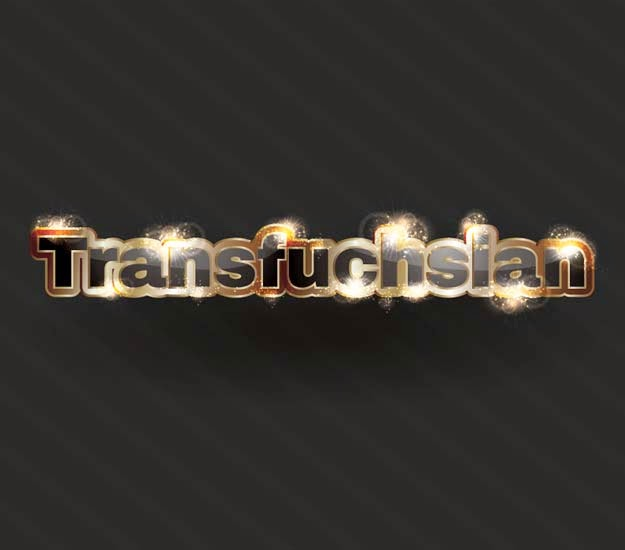 Creating Sparkling Gold Text Effect