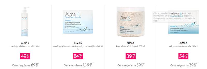 kosmetyki alma k, kosmetyki z Morza Martwego, alma k hebe, peeling alma k, alma k cena, krem do rąk alma k, maseczka alma k