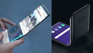 Galaxy S10 flex and folded