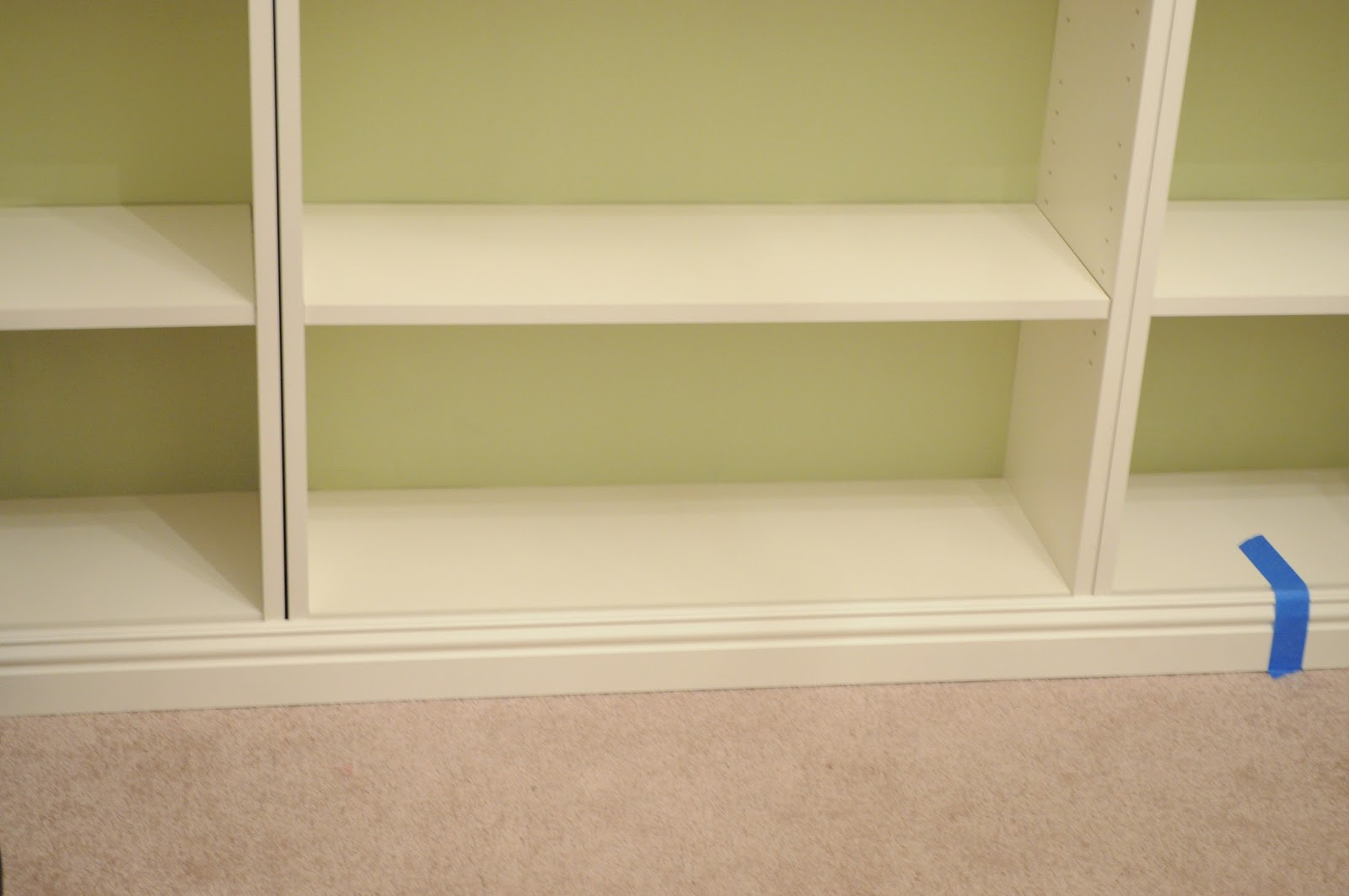 Bookcases With Baseboard Trim Added