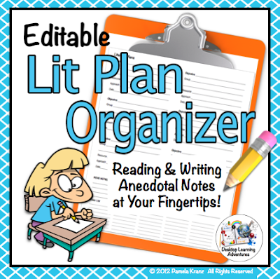 Lit Plan Organizer- Reading Writing Anecdotal Notes