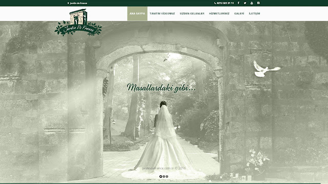Jardin de france home page design