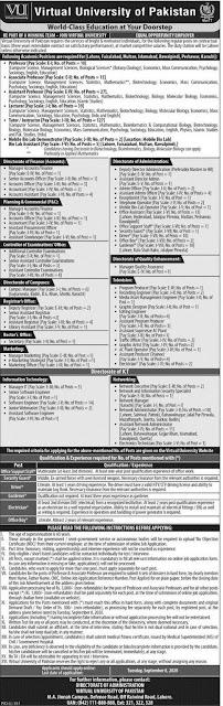 virtual-university-vu-jobs-august-august-2020-non-teaching-vacancies