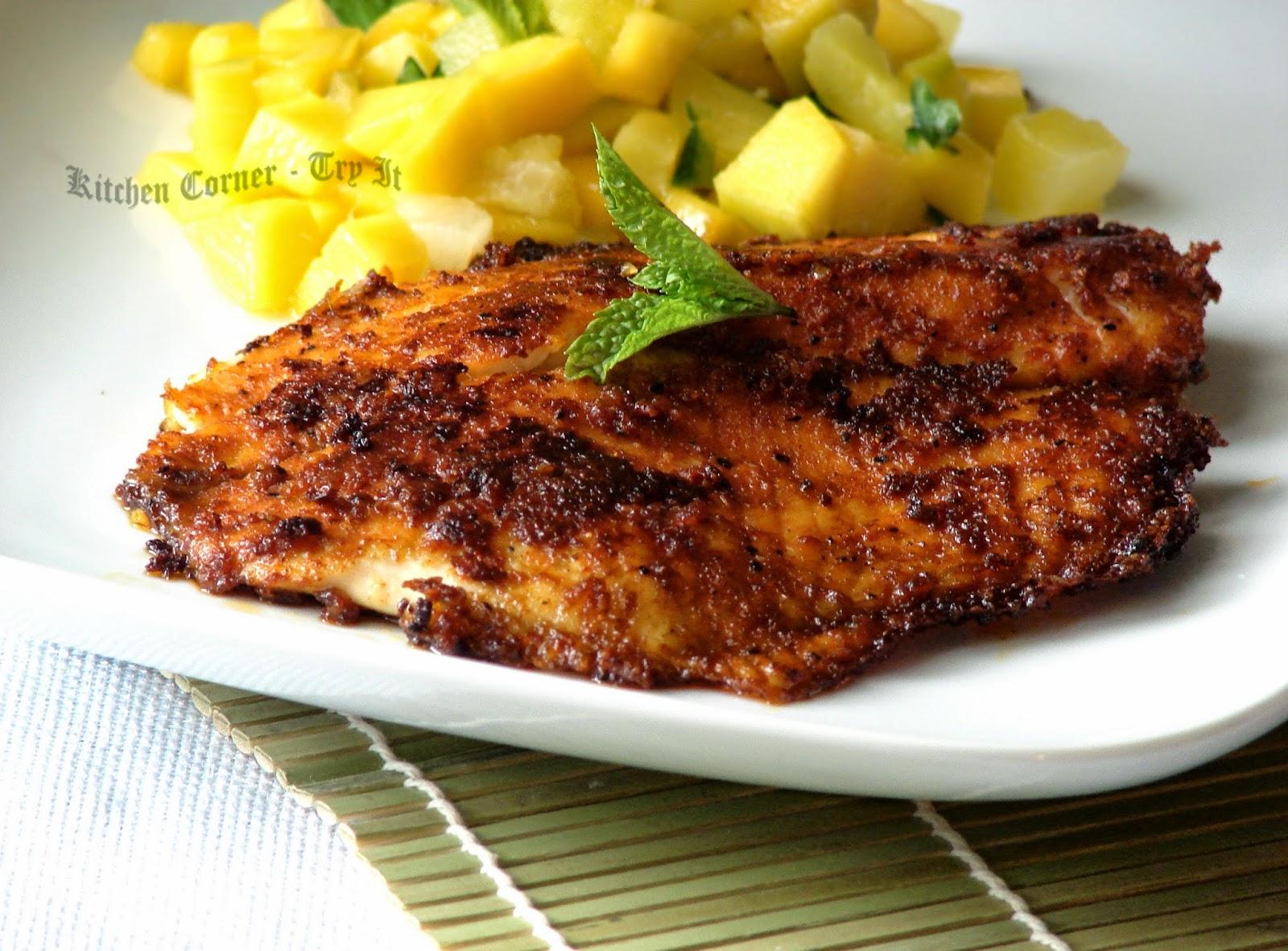 Kitchen corner try it cajun spiced tilapia for Cajun fish recipes