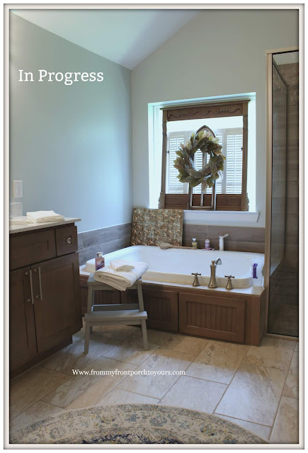 Master Bathroom Makeover-Reveal-Tub Area-DIY-One Last Project-From My Front Porch To Yours