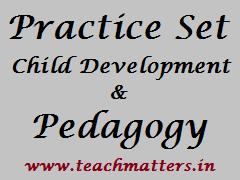 Practice Set - Pedagogy @ www.teachmatters.in