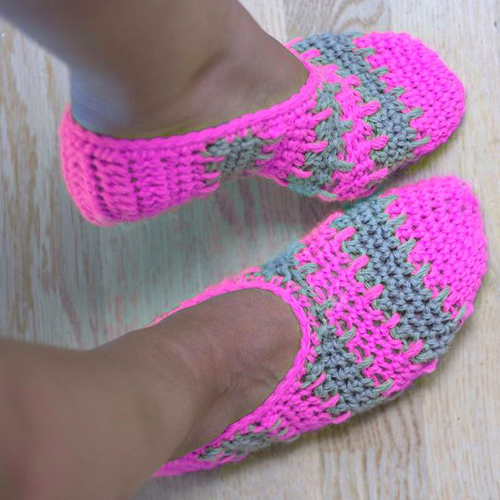 Cute Crochet Slippers - Free Pattern