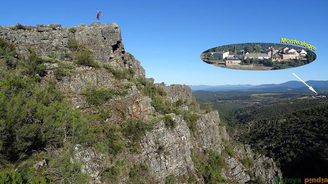 Vistas desde el Mirador de Vidriales hacia el pueblo leonés de Montealegre