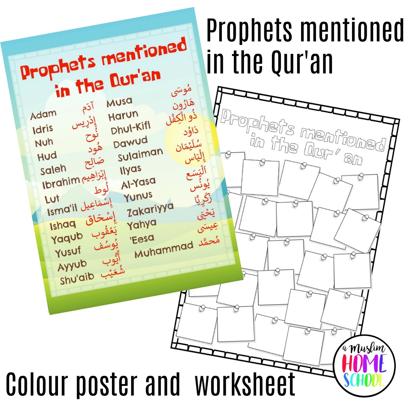 A Muslim Homeschool Stories Of The Prophets Time Line