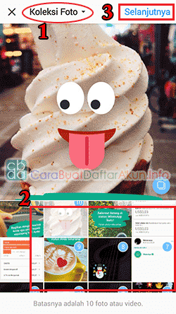 cara membuat slideshow di instagram