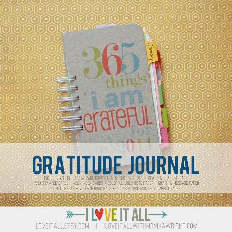 Gratitude Journal from iloveitall.etsy.com | Monika Wright