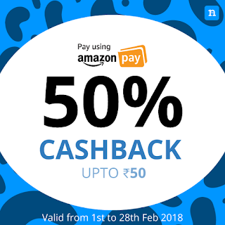 Niki App Offer - Get 50% Cashback on Recharge Via Amazon Pay Balance (All Users)