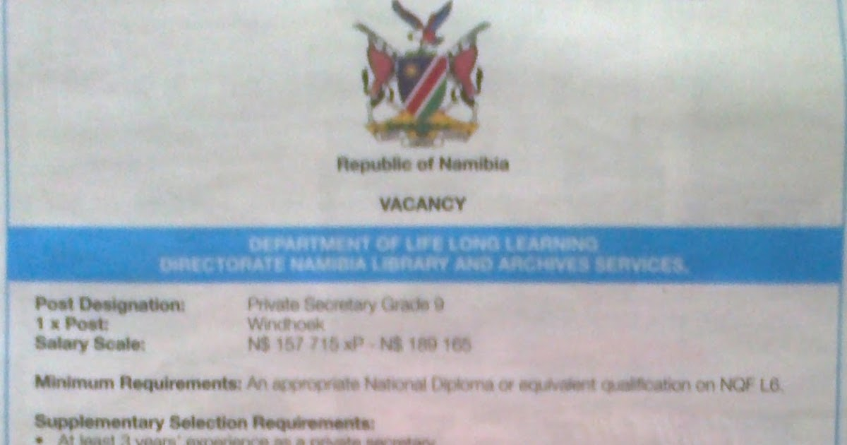 namibia government job application forms 156043