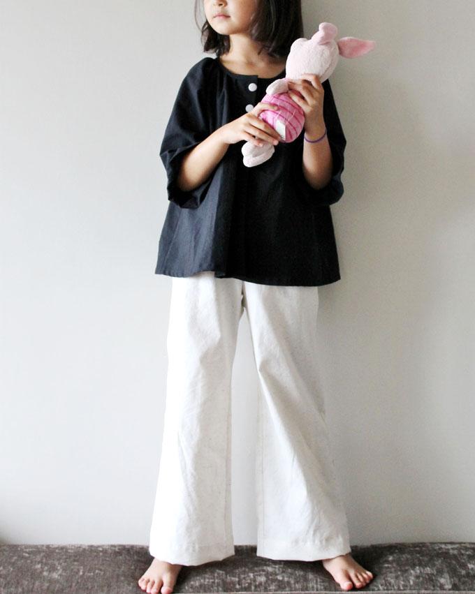 Jing & Tonic: Black Smock and White Linen Wide Leg Pants