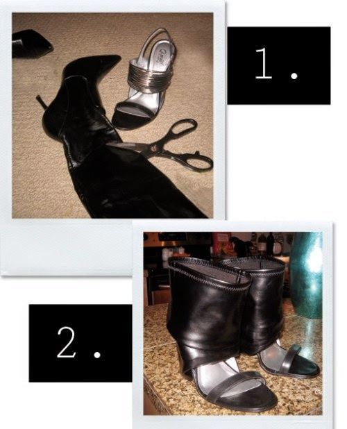 transformar unas botas cerradas en botas sandalias