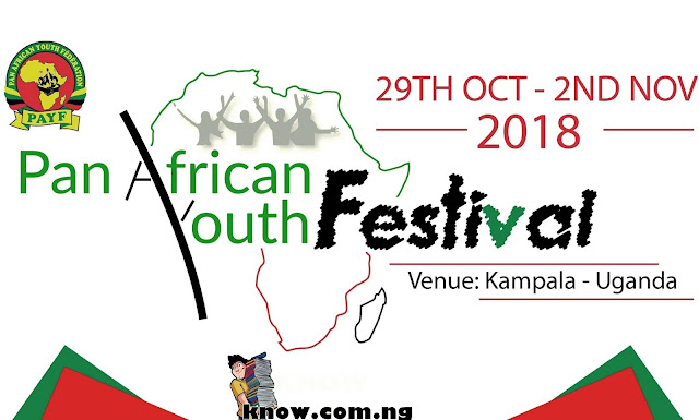 How To Apply For The Pan African Youth Festival and Awards 2018