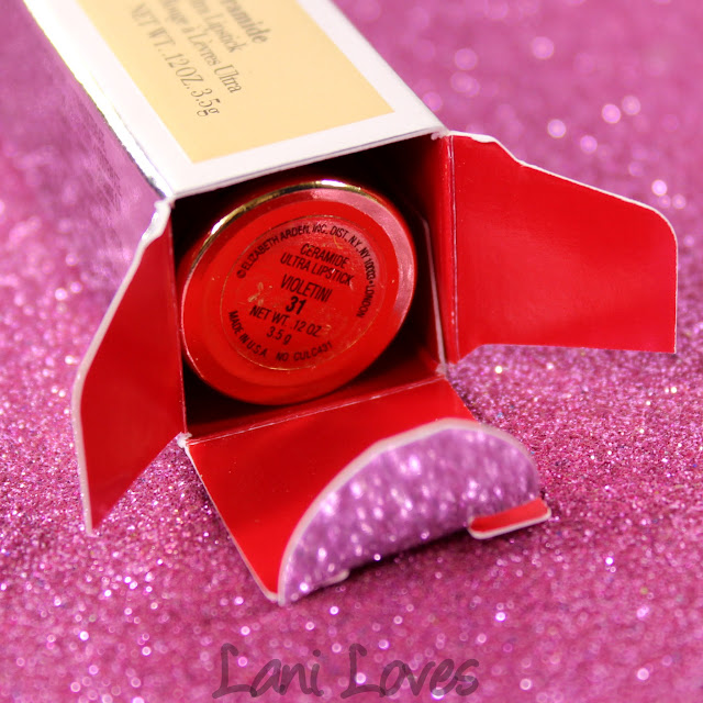 Elizabeth Arden Ceramide Ultra Lipstick - Blushing Pink and Violetini Swatches & Review