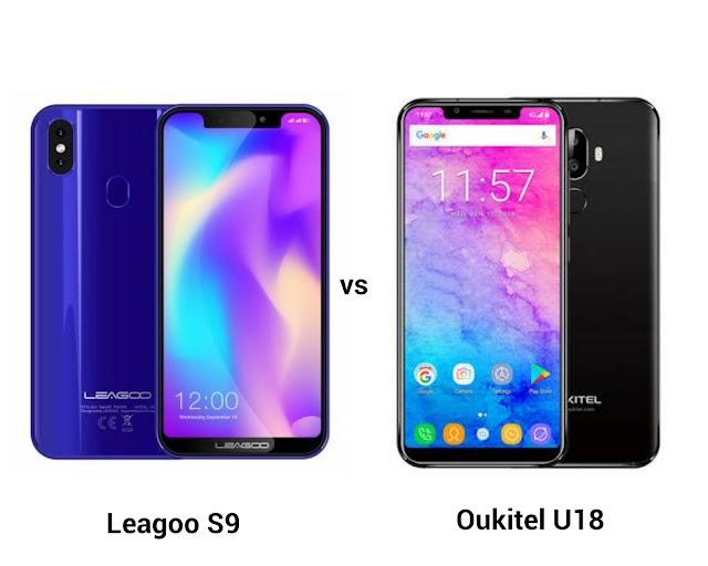 Leagoo S9 vs Oukitel U18 smartphone specs comparison, features and price