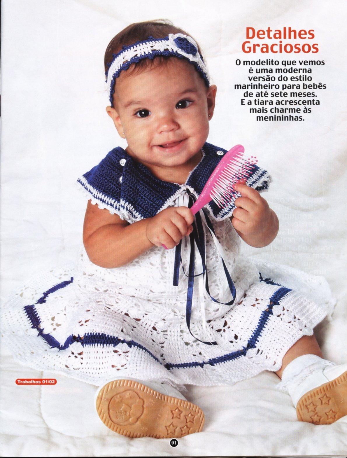 Receita Trico Fácil -Revista Revista MODA CROCHÊ BEBÊ-Graficos receitas  explicativas em todos os trabalhos -Seu bebê com o enxoval completo 29  ideias em lãs ... e27b2905de6